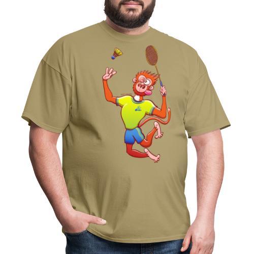 Red Monkey Playing Badminton - Men's T-Shirt