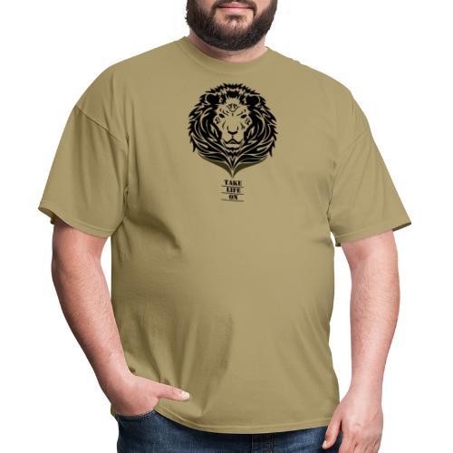Lion Take life on - Men's T-Shirt