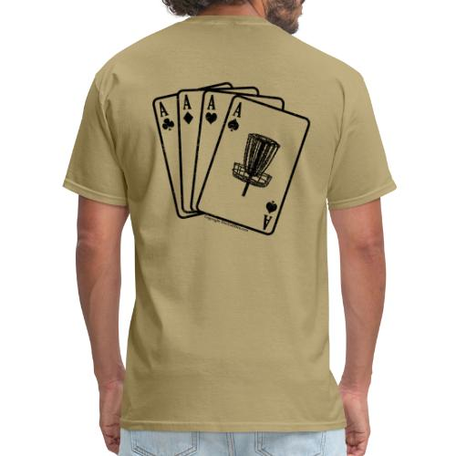 Disc Golf Aces Black Print Shirt - Men's T-Shirt