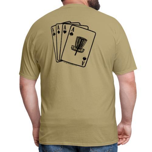 Disc Golf Aces Black Print Shirt - Men's T-Shirt