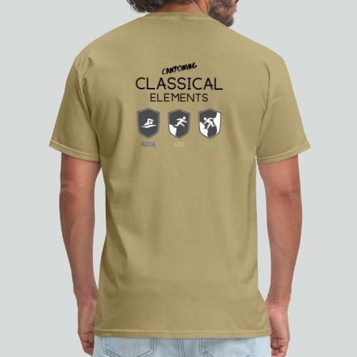 CLASSICAL ELEMENTS-on light back-2 side- all badge - Men's T-Shirt