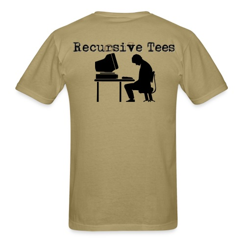 Sad at Computer - Men's T-Shirt