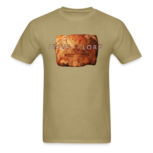 Jesus is Lord - stone tablet - Men's T-Shirt