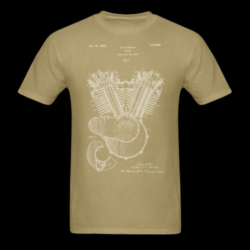 Authentic V-twin HD Motorcycle Engine Patent 1919 - Men's T-Shirt
