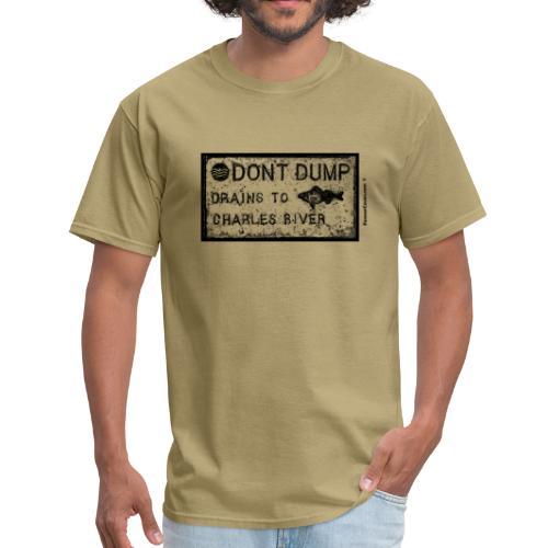 Do Not Dump Charles River Black - Men's T-Shirt
