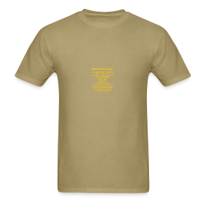 tshirt_pilotVersion_nologo_gold - Men's T-Shirt