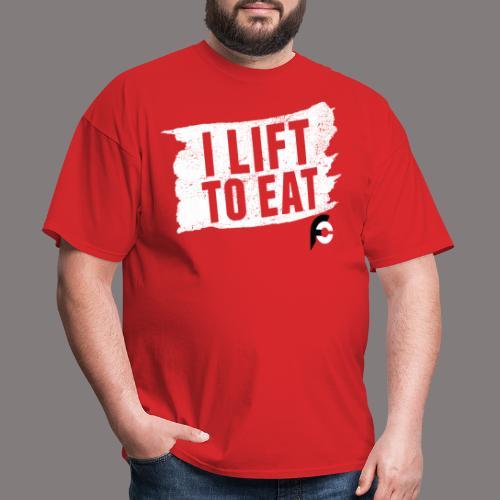 I Lift To Eat White 2 - Men's T-Shirt