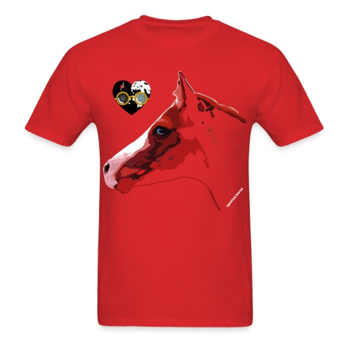Spotted.Horse Appaloosa Colt Red - Men's T-Shirt