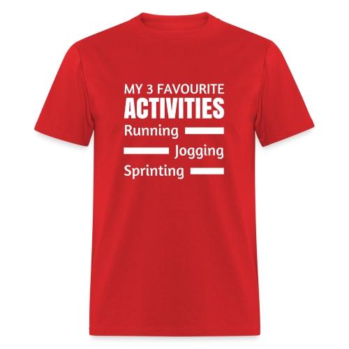 My 3 Favourite Activities - Men's T-Shirt
