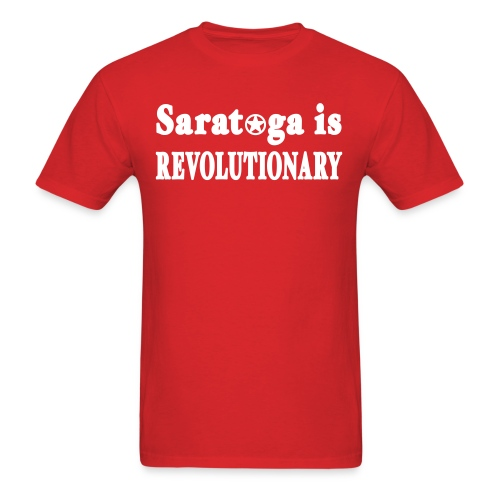 New York Old School Saratoga is Revolutionary Shir - Men's T-Shirt