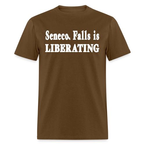 New York Old School Seneca Falls is Liberating Shi - Men's T-Shirt