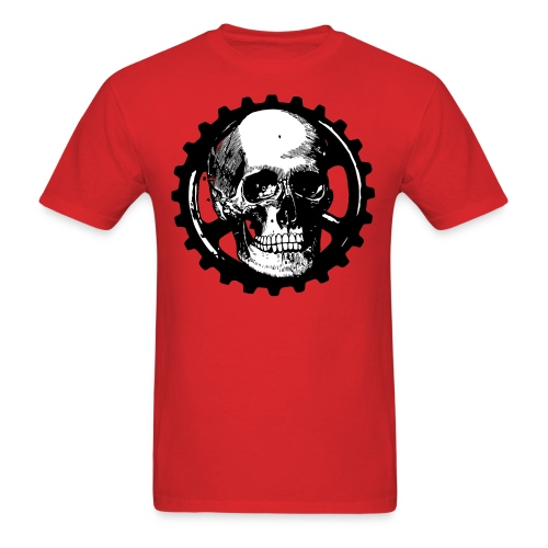 Gear Head Skull - Men's T-Shirt
