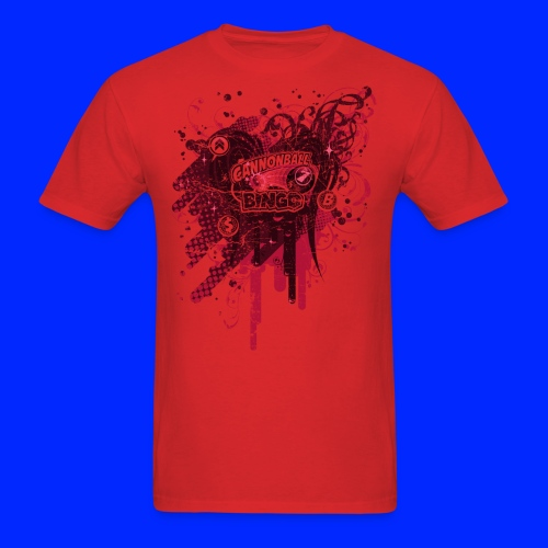 Vintage Cannonball Bingo Drip Red - Men's T-Shirt