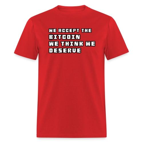 We Accept Bitcoin Tshirt - Men's T-Shirt