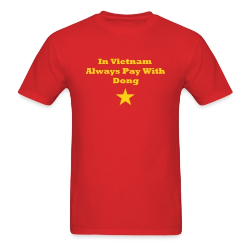 yellow star text - Men's T-Shirt
