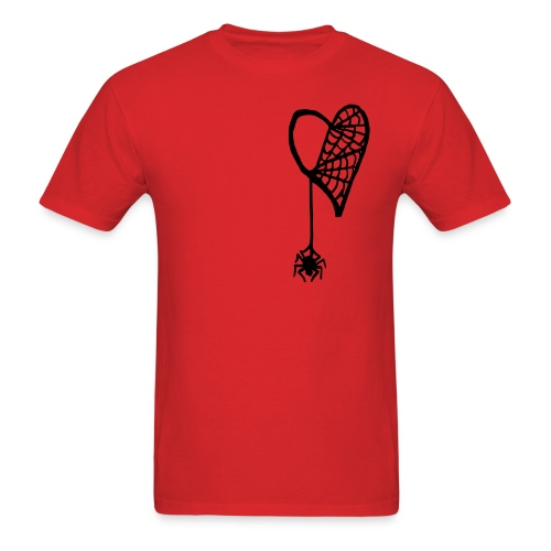 Cobweb Heart - Men's T-Shirt