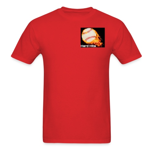 Hard Hits flames baseball edition - Men's T-Shirt