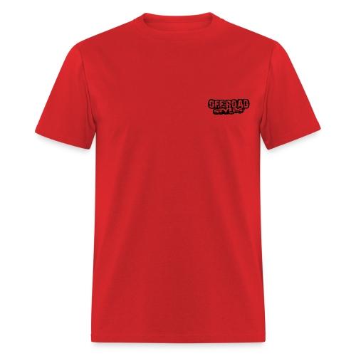 Blue Quad Racer Grunge Long Sleeve Shirts - Men's T-Shirt