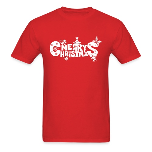 Merry Christmas blanco - Men's T-Shirt