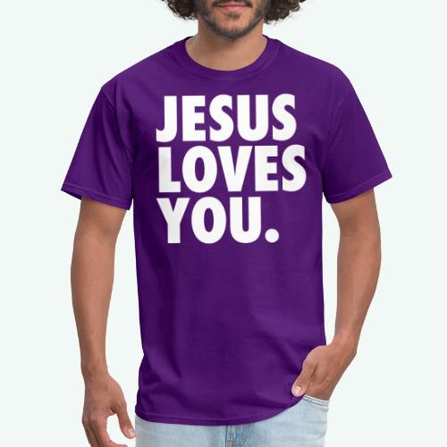 JESUS LOVES YOU - Men's T-Shirt