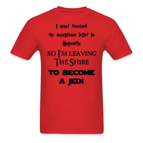 I m leaving The Shire To Become a Jedi - Men's T-Shirt