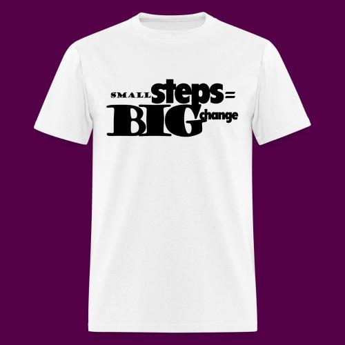 small steps black - Men's T-Shirt