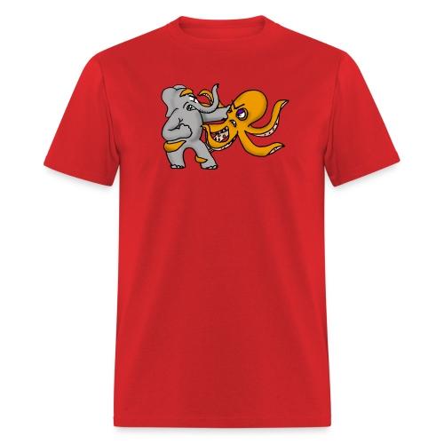 Elephant vs. Octopus T-Shirt - Men's T-Shirt