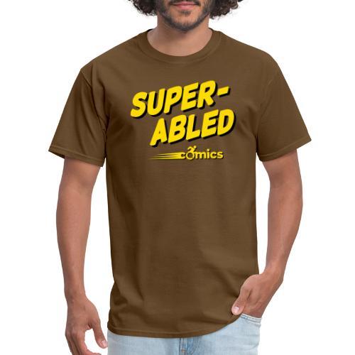 Super-Abled Comics - yellow/black - Men's T-Shirt