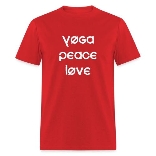 Yoga Peace Love - Men's T-Shirt