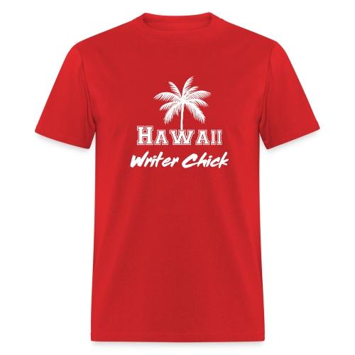 Hawaii Writer Chick - White - Men's T-Shirt