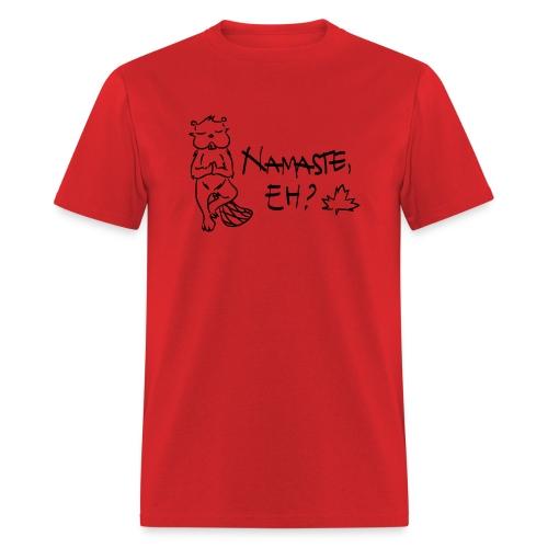 NAMASTE EH (black print) - Men's T-Shirt