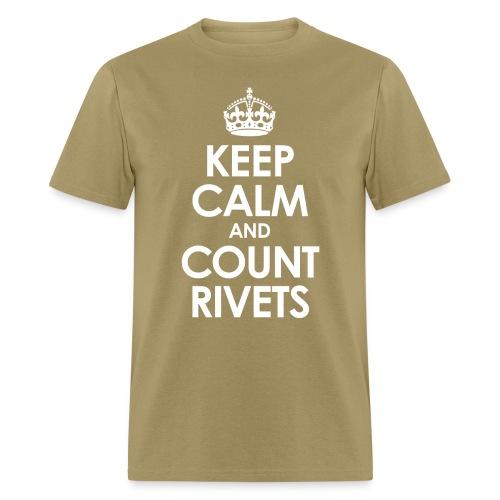 keep calm count rivets png - Men's T-Shirt