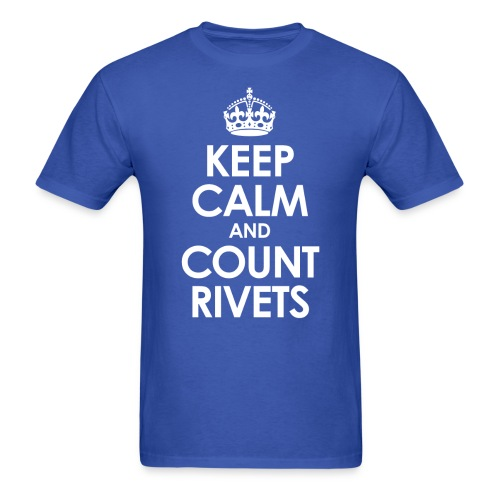 keep calm count rivets png - Men's T-Shirt