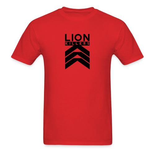 Lion Killers Logo - Red Range - Men's T-Shirt