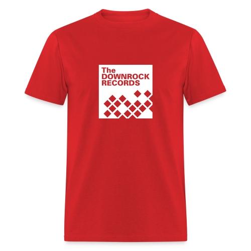 downrockrecords final 1wht - Men's T-Shirt