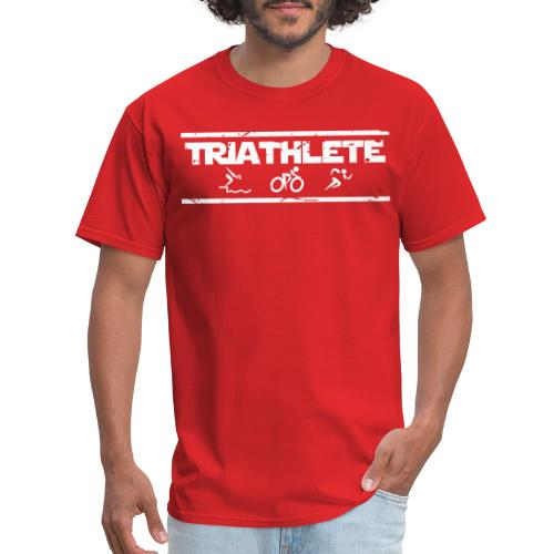 Triathlete swim bike run distressed - Men's T-Shirt