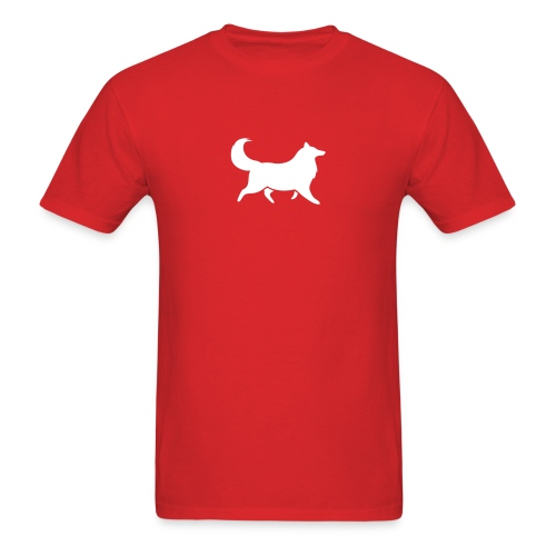 Collie silhouette small - Men's T-Shirt