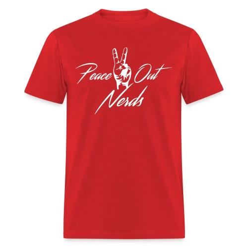 peaceout white - Men's T-Shirt