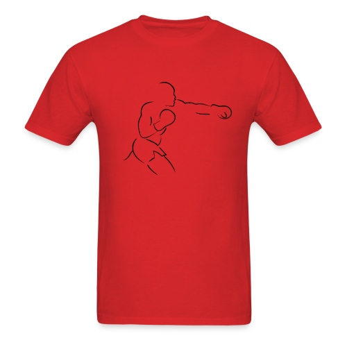 FIF Men Silhouette Fighter Design - Men's T-Shirt