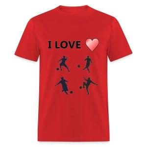 Geek T-shirt I love soccer - Men's T-Shirt