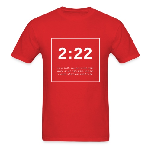 Angel Number 2:22 - Men's T-Shirt