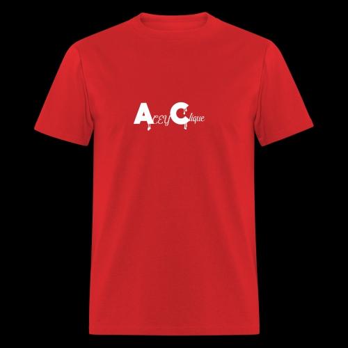 AceyClique White Logo - Men's T-Shirt