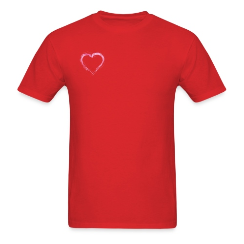 Pink Heart Shirt - Men's T-Shirt