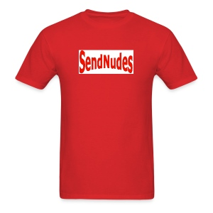 Send Nudes- red - Men's T-Shirt