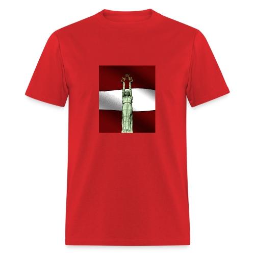 red-Latvija-Flag - Men's T-Shirt