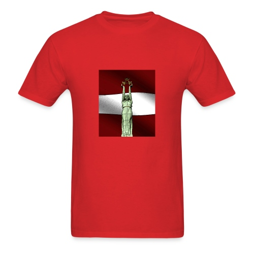 red-Latvija-Flag - Men's T-Shirt