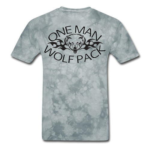 One Man Wolf Pack - Design - Men's T-Shirt