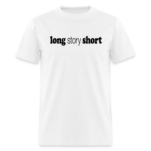 LONG STORY SHORT title new black png - Men's T-Shirt