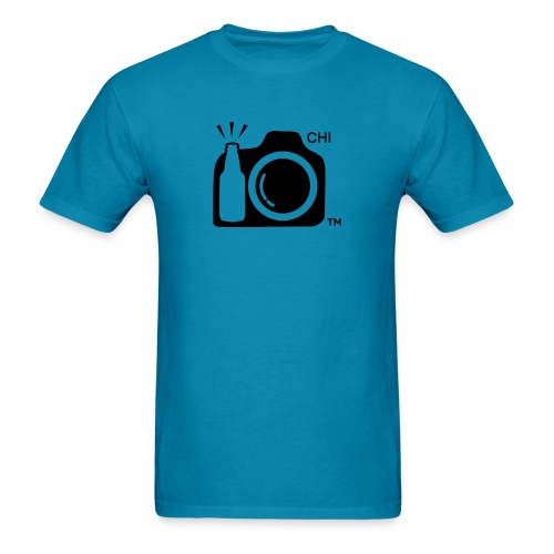 Chicago Transparent With Initials BLACK png - Men's T-Shirt