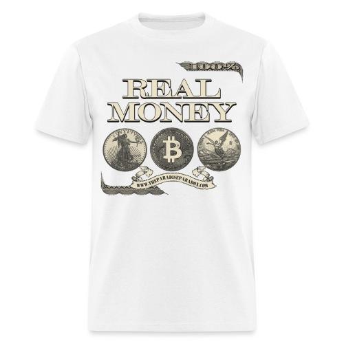 Real Money half border - Men's T-Shirt